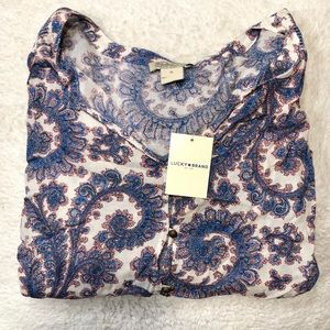 Lucky Brand Women's Paisley Blouse